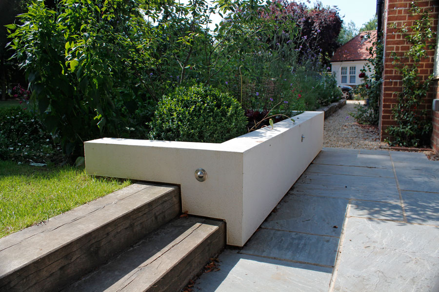 Landscaping Iffley, Oxford patio & sleeper steps