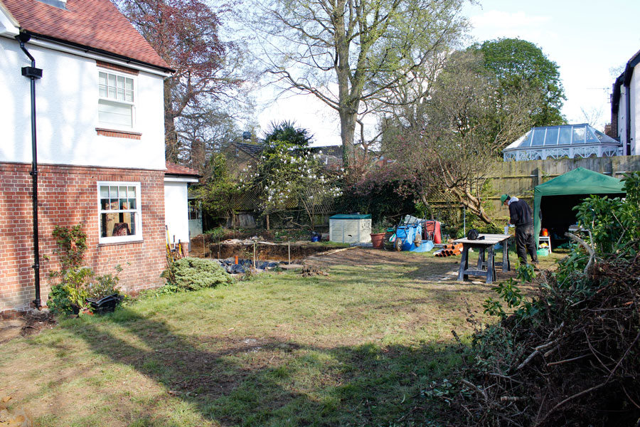 Landscaping Iffley, Oxford garden before