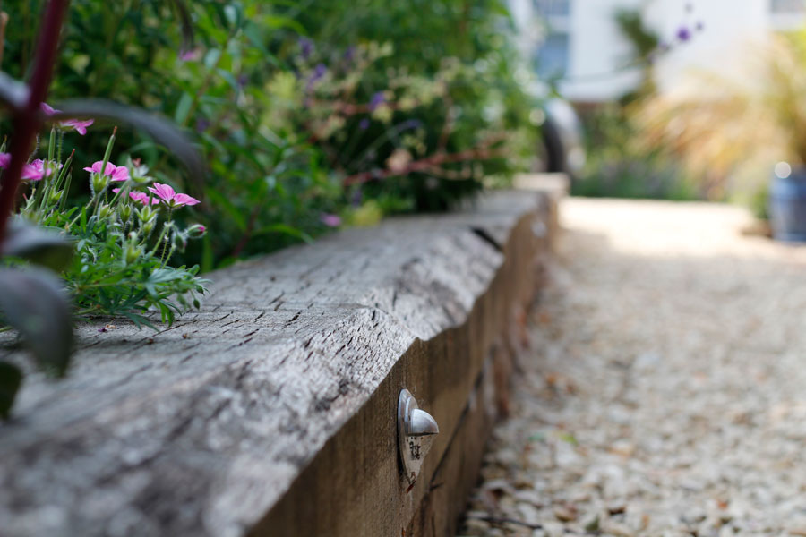 Landscaping Iffley, Oxford sleeper bed & path